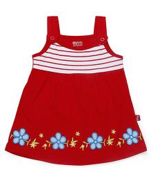 Bodycare Singlet Sleeves Frock Floral Print - Red