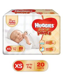 Huggies Ultra Soft Premium Diapers For New Baby - 20 Pieces