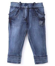 Olio Kids Full Length Jeans Studded Detailing - Blue