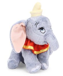 Starwalk Dumbo Plush Soft Toy Grey Red - 23 cm