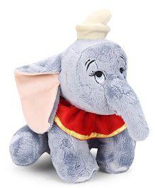 Starwalk Dumbo Plush Soft Toy Grey Red - 30 cm