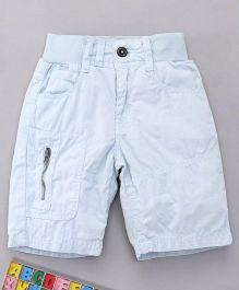 Bees and Butterflies Cotton Shorts - Light Blue
