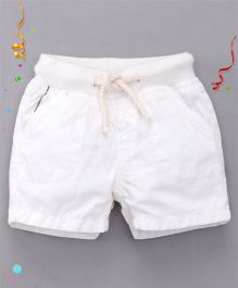 Bees and Butterflies Cotton Shorts - White