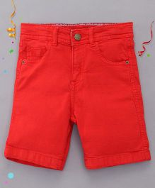 Bees and Butterflies Shorts for Boys - Red
