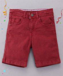 Bees and Butterflies Shorts for Boys - Red Wine