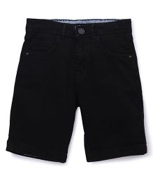 Bees and Butterflies Cotton Shorts for Boys - Black