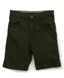 Bees and Butterflies Boys Shorts - Olive Green