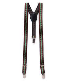 Kid-o-nation Suspenders Checks Print - Red Green