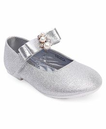 Doink Party Wear Bellies With Embellishment - Silver