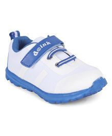 Doink Sneakers Sports Shoes With Velcro Closure - White