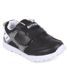 Doink Velcro Closure Sneaker Shoes - Black