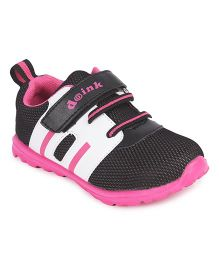 Doink Velcro Closure Sports Shoes - Black & Pink