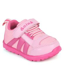 Doink Sneakers Sports Shoes With Velcro Closure - Pink