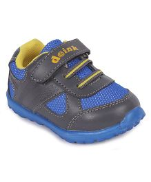 Doink Sneakers Sports Shoes With Velcro Closure - Grey & Blue
