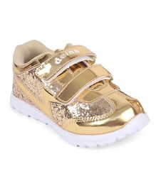 Doink Formal & Party Wear Shoe With Embellishment - Golden