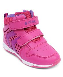 Doink Double Strap Velcro Closure Sneaker Shoes - Fuchsia Pink