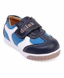 Doink Casual Shoes With Velcro Closure - Dark Blue