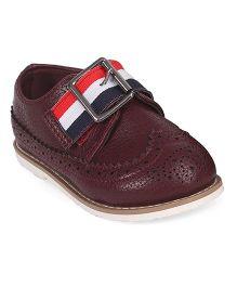 Doink Formal Partywear Shoes Buckle Closure - Maroon