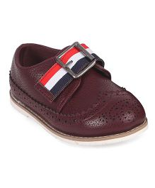 Doink Formal Partywear Shoes Buckle Closure - Maroon