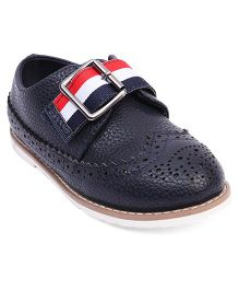 Doink Formal Partywear Shoes Buckle Closure - Navy