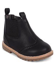Doink Partywear Boot Shoes - Black