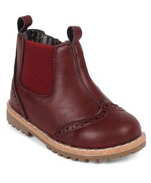 Doink Partywear Boot Shoes - Maroon