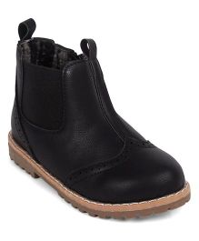 Doink Partywear Boot Shoes - Black