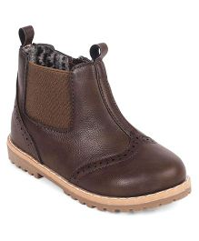 Doink Partywear Boot Shoes - Dark Coffee Brown