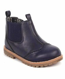 Doink Partywear Boot Shoes - Navy