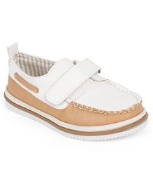 Doink Casual Partywear Shoes With Velcro Closure - White