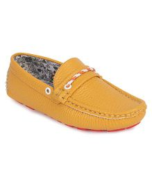 Doink Formal & Party Wear Loafer Shoes - Yellow
