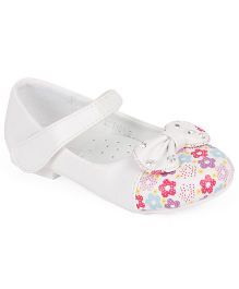 Doink Belly Shoes Floral Print - White