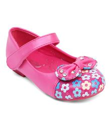 Doink Belly Shoes Floral Print - Fuchsia