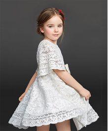 Pre Order - Awabox Fine Knitted Dress - White