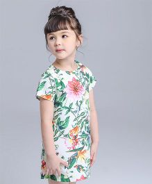 Pre Order - Awabox Tropical Print Dress - Multicolour