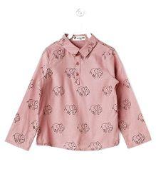 Cubmarks Elephant Print Shirt - Pink