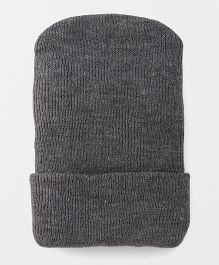 Babyhug Winter Wear Cap - Grey