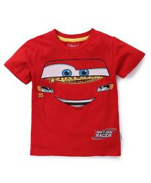Disney Pixar Cars Half Sleeves T-Shirt - Red
