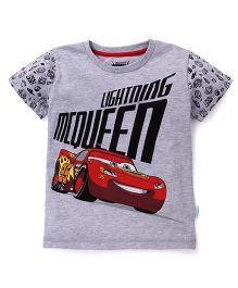 Disney Pixar Cars Half Sleeves T-Shirt - Light Grey