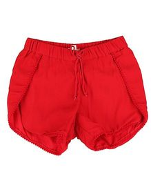 Hugsntugs Shorts With Pom Pom - Red