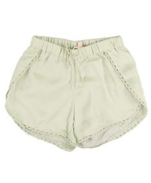 Hugsntugs Satin Shorts - Green