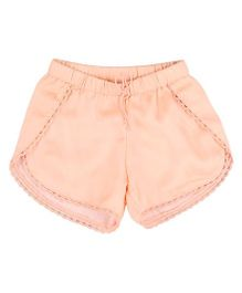 Hugsntugs Satin Shorts - Peach