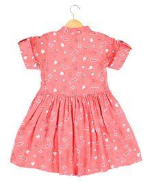 Hugsntugs Fun Print Dress - Pink