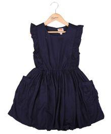 Hugsntugs Dress With Side Pockets - Navy