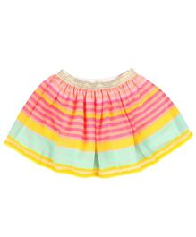 Hugsntugs Striped Skirt - Multicolor