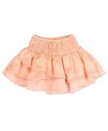 Hugsntugs Satin Skirt - Peach