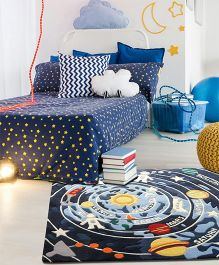 Little Looms Galaxy Printed Rug - Blue