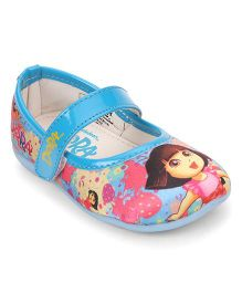 Dora Girls Bellies & Peep Toes Blue 8