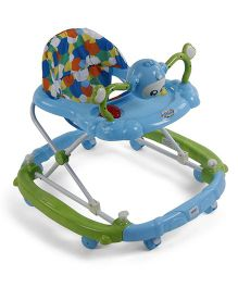 Musical Baby Walker With Play Tray - Blue Green