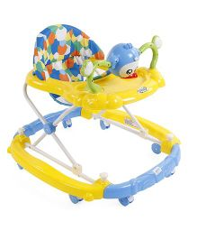 Musical Baby Walker With Play Tray - Yellow Blue